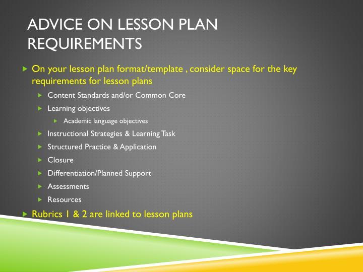 Advice on Lesson Plan