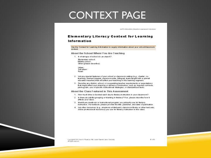 Context Page