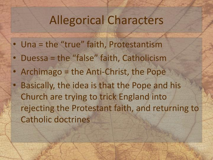 Allegorical Characters