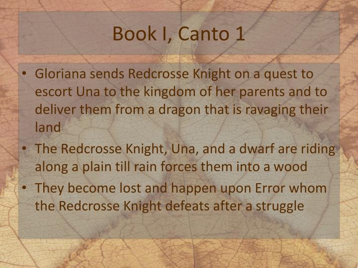 Book I, Canto 1