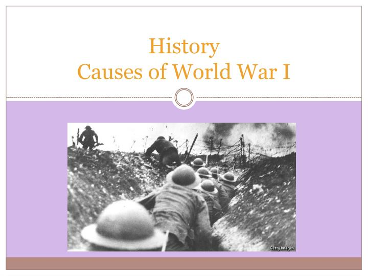 history causes of world war i n.