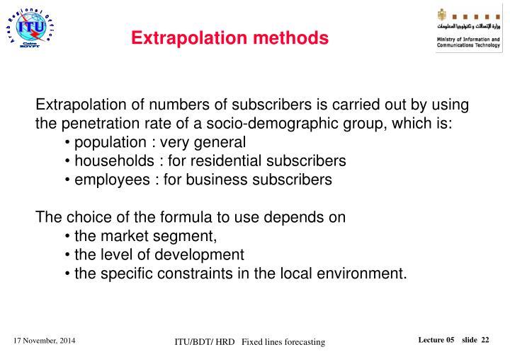 Extrapolation methods