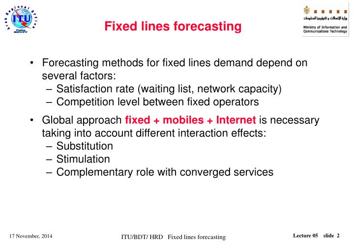 Fixed lines forecasting