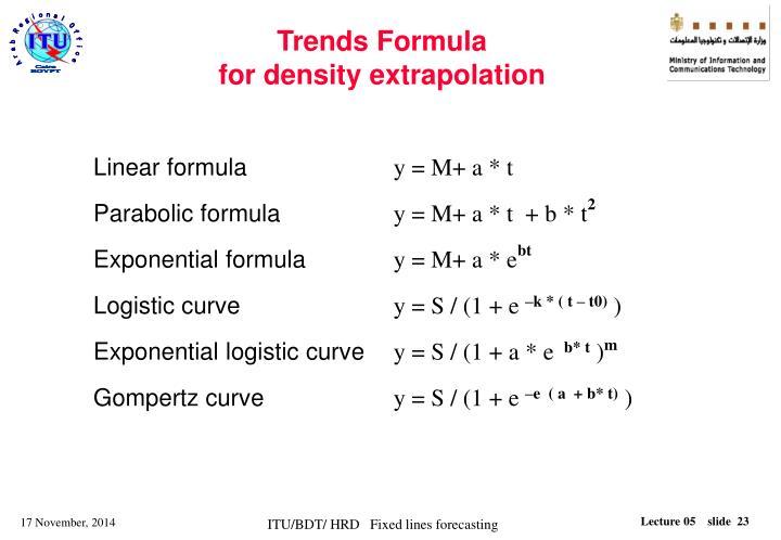 Trends Formula