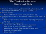 the distinction between shar ia and fiqh