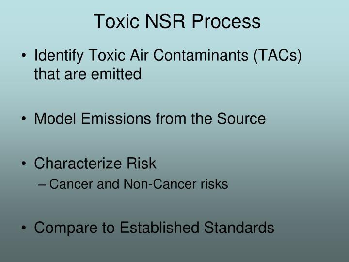 Toxic NSR Process