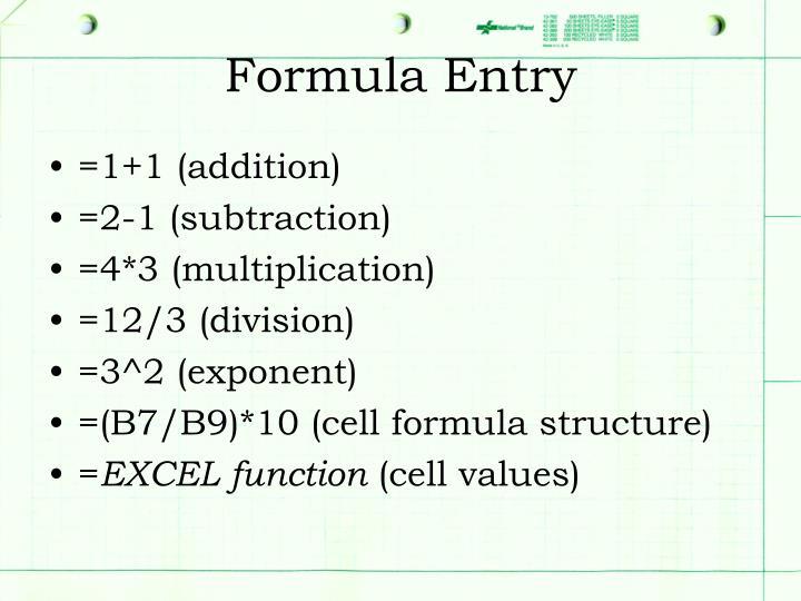 Formula Entry