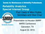 reliability analytics special interest group