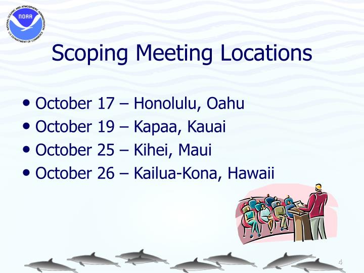 Scoping Meeting Locations