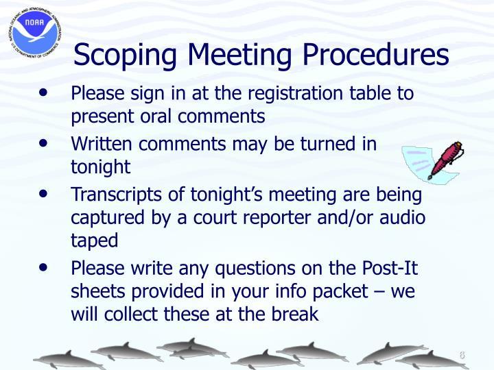 Scoping Meeting Procedures
