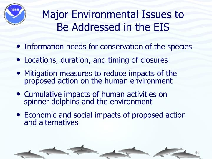 Major Environmental Issues to