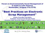 best practices on electronic scrap management