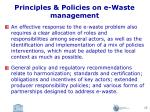 principles policies on e waste management