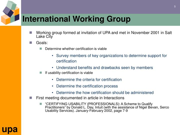 International Working Group