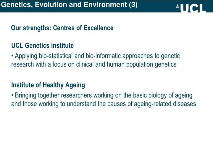 Genetics, Evolution and Environment (3)