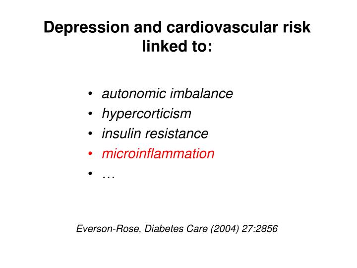 Depression and cardiovascular risk