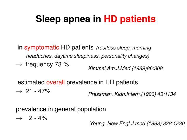 Sleep apnea in
