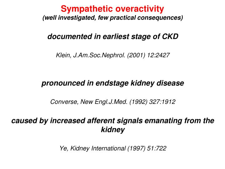 Sympathetic overactivity