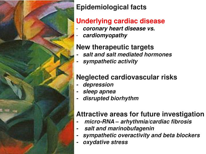 Epidemiological facts
