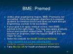 bme premed