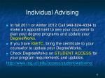 individual advising