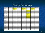 study schedule1