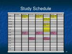 study schedule2