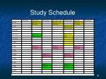 study schedule3