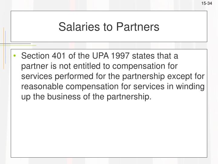 Salaries to Partners