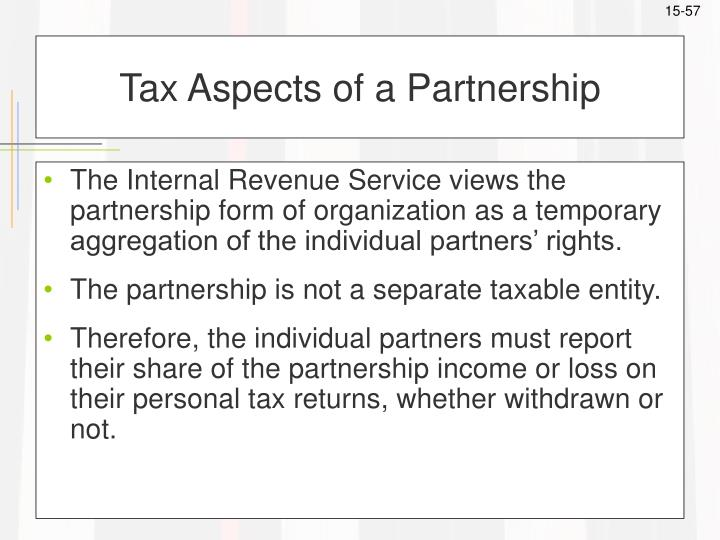 Tax Aspects of a Partnership