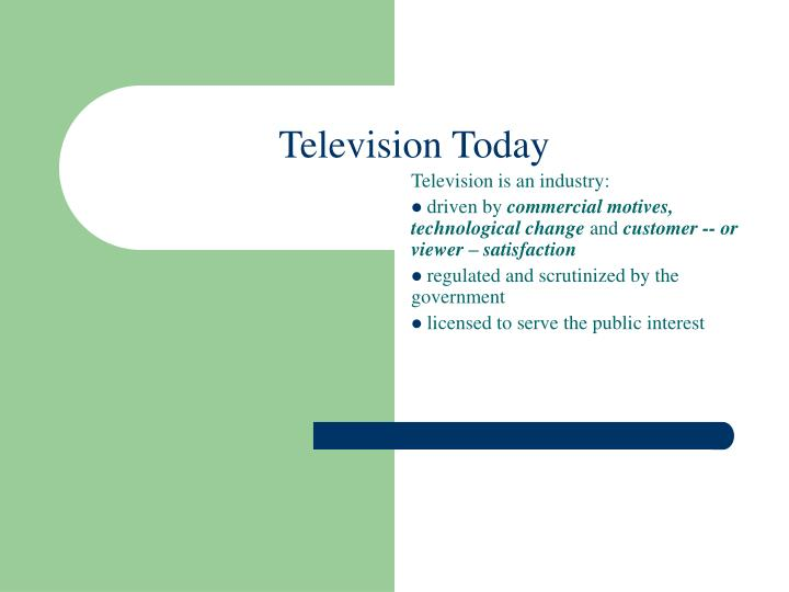 technological changes in television industry Competition and technological change in the television industry there are few in-depth studies of individual industries available, and.