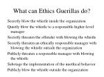 what can ethics guerillas do