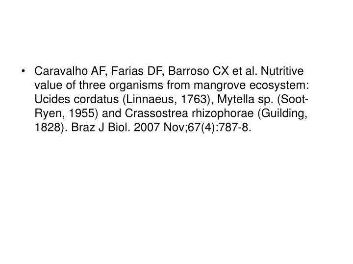 Caravalho AF, Farias DF, Barroso CX et al.