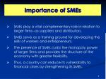 importance of smes1