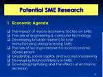 potential sme research