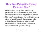 how was phlogiston theory put to the test
