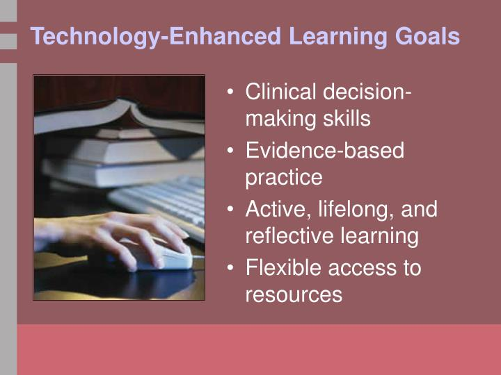 Technology enhanced learning goals