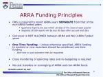 arra funding principles