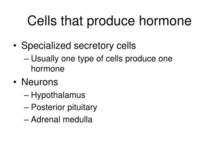 Cells that produce hormone