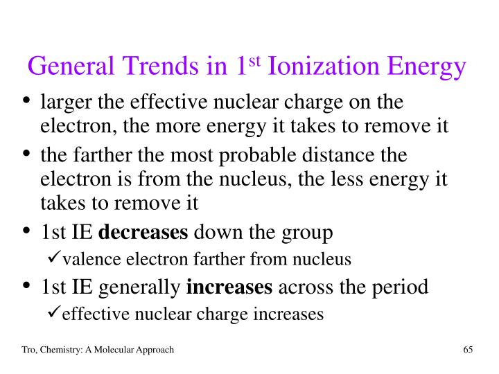 General Trends in 1
