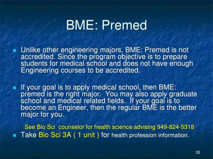 BME: Premed