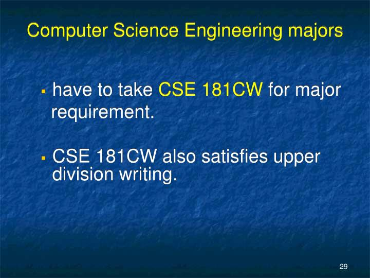 Computer Science Engineering majors