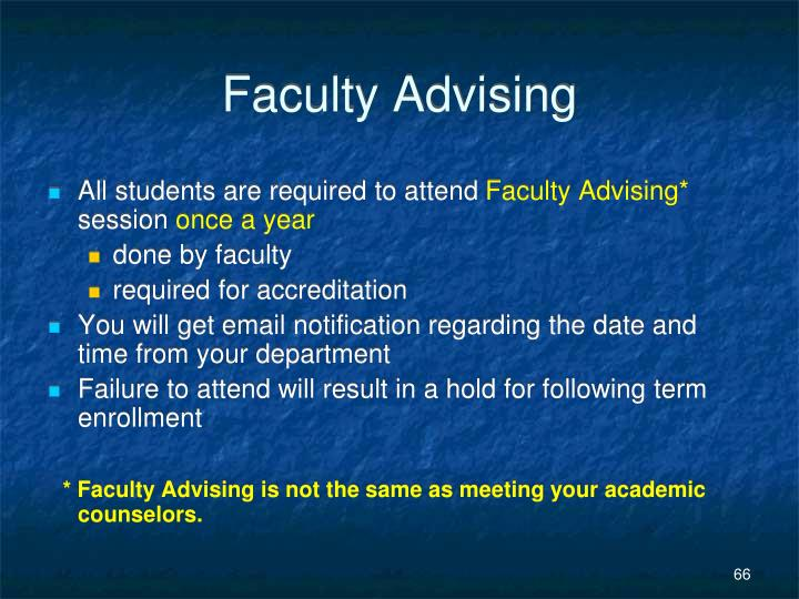 Faculty Advising