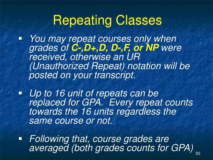 Repeating Classes