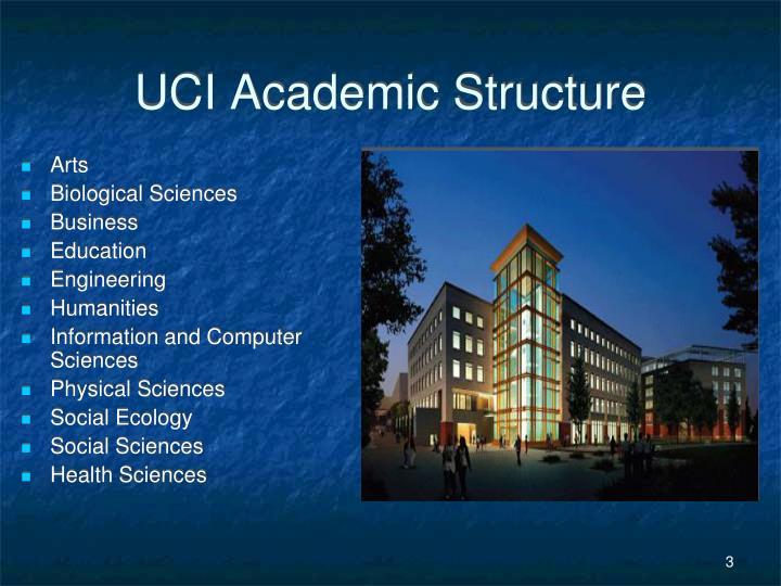 Uci academic structure