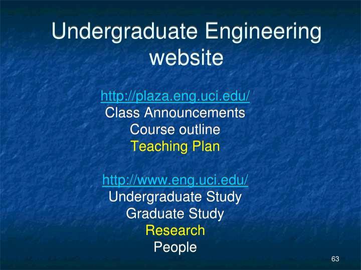 Undergraduate Engineering website