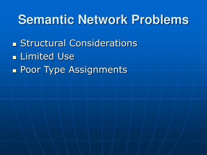 Semantic network problems