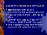 before the agricultural revolution