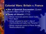 colonial wars britain v france