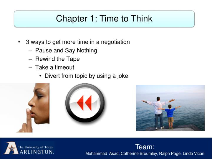 Chapter 1: Time to Think